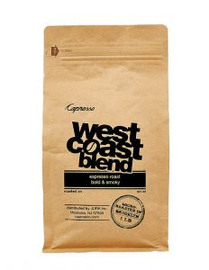 one pound bag of West Coast espresso roast.