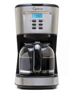 12-Cup Drip Coffee Maker with Programmable Clock Display